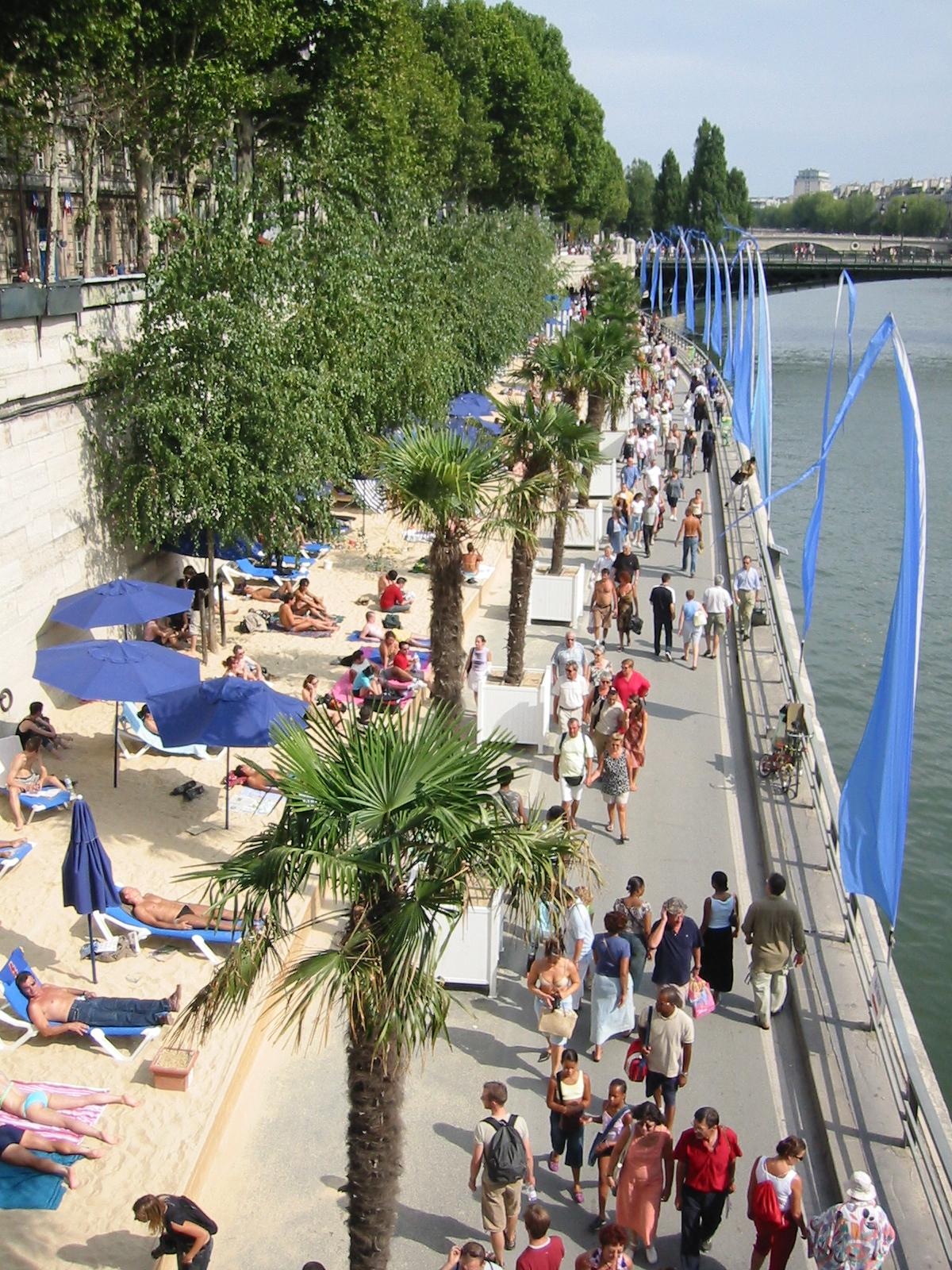 Paris plage 2003 france urbanplanet info - Piscine plage paris asnieres sur seine ...