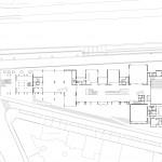 Plan of the ground floor of the Centre National de la Danse