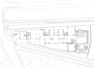 Plan of the ground floor of the Centre National de la Danse