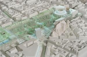 Entwurfsvorschlag von Jean Nouvel für das Forum des Halles