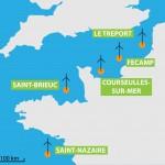Die geplanten Offshore Windparks in Frankreich