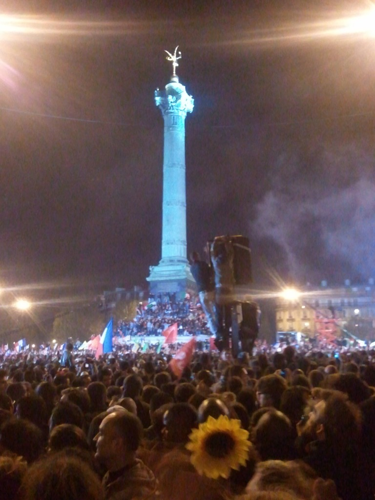 The 6th of May 2012 at the Place de la Bastille in Paris