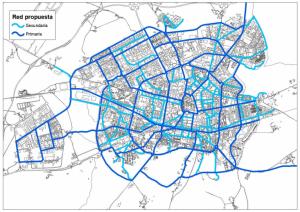 Réseau cycliste proposé à Vitoria