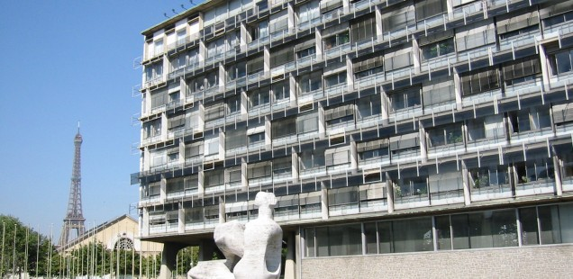 The UNESCO Headquarters in Paris, by Marcel Breuer, hosted the 2002 DOCOMOMO Conference