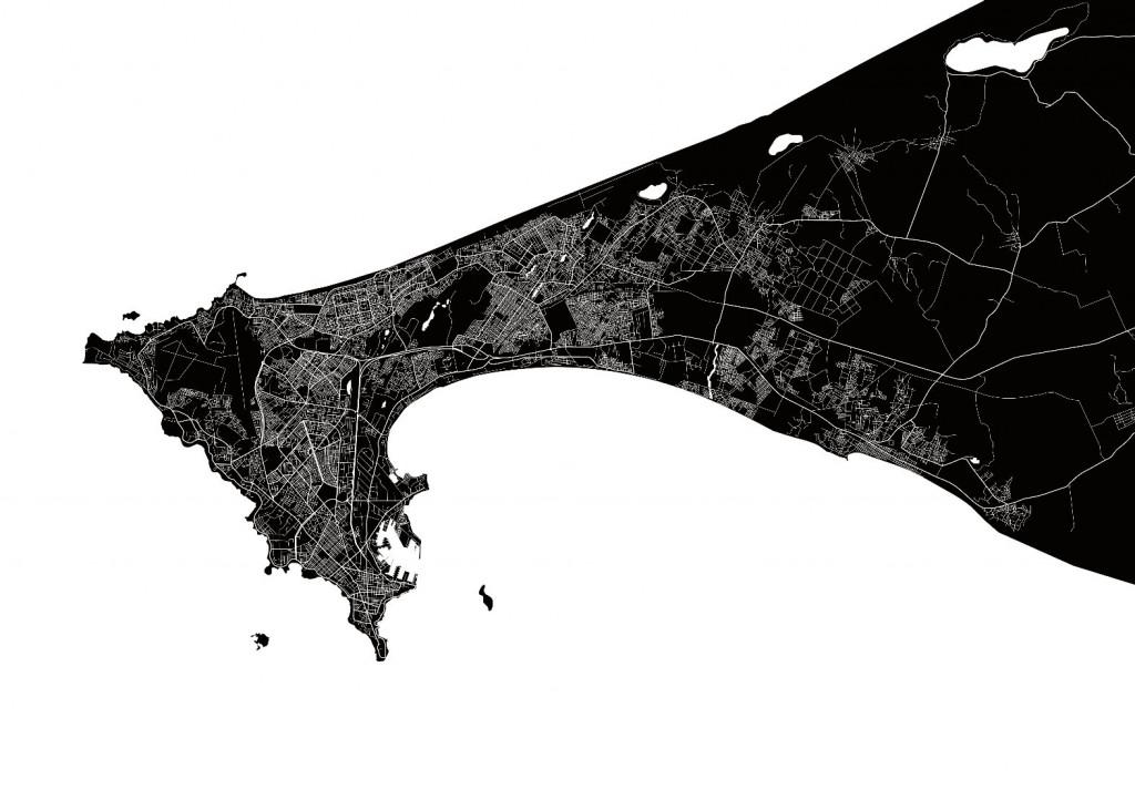 Plan des routes de Dakar
