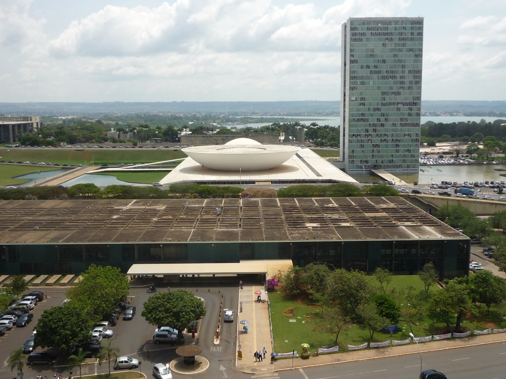 National assembly in Brasilia, Brazil, by Oscar Niemeyer