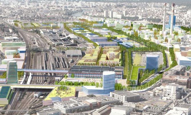Urban development around the future station of the Ardoines