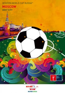 The FIFA2018 poster of Moscow, Russia