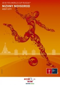 The FIFA2018 poster of Nizhny Novogrod, Russia