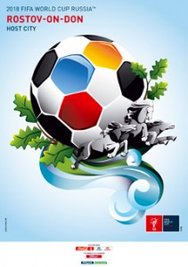 The FIFA2018 poster of Rostov-on-Don, Russia
