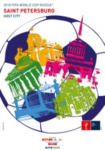 The FIFA2018 poster of Saint Petersburg, Russia