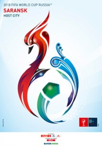 The FIFA2018 poster of Saransk, Russia