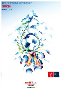 The FIFA2018 poster of Sochi, Russia