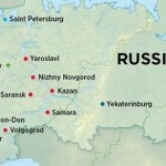 Russia World Cup 2018 cites location map