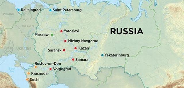 Hosting Two Major Sports Events Russia Urbanplanet - Saransk map