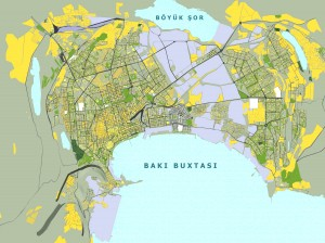 Baku plan, Az-BAKU 2013 © State Urban Planning and Architecture Committee of Azerbaijan