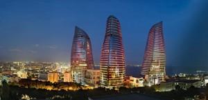 Flame Towers, Az-BAKU 2013 © Niyaz Bakili