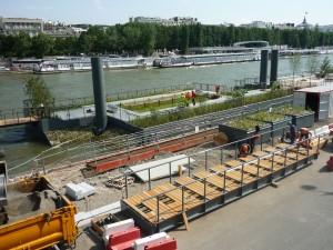 Neugestaltung des Seineufer von Paris