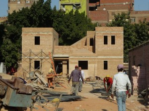 Research on stabilized earth buildings by the HBRC in Cairo