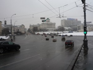 Inner city road in Moscow