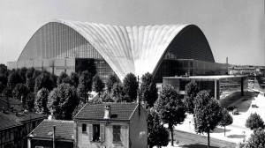 View on the CNIT in La Défense shortly after its construction in 1958