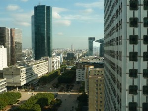 View from the Opus Tower in La Défense towards Paris