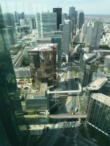 View from the First Tower on the northern ring road of la Défense