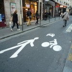 Pedestrian Priority Street in Paris