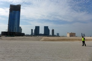 Pop-up towers on sector 4 of Al Reem Island in Abu Dhabi