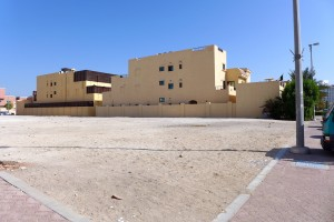 Vacant plots in a villa neighbourhood in Abu Dhabi