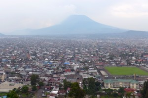 View on Goma in RD Congo