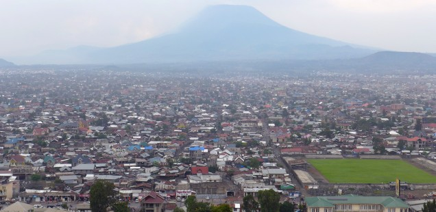 View on Goma and the Nyiragongo