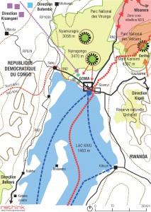 Map of the metropolitan region of Goma