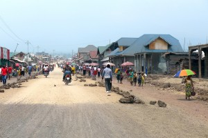 Road construction in Goma