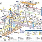 Map of Shibuya station on the Yamanote line in Tokyo
