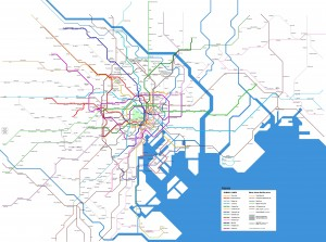 Subway and other urban rail services in Tokyo
