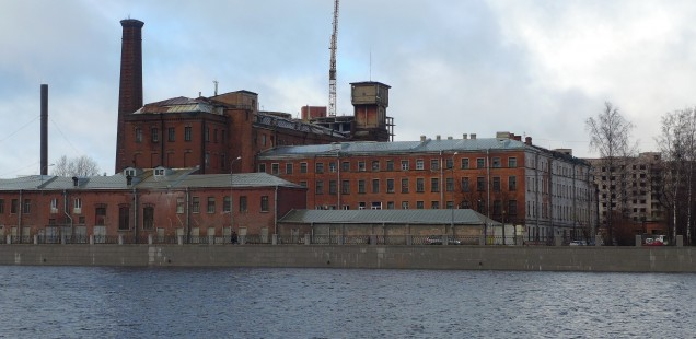 Factory in the industrial belt of St. Petersburg