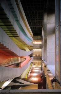 Die sechsstöckige Eingangshalle des Centre National de la Danse