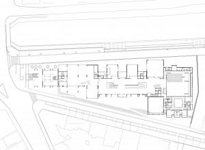 Grundriss des Erdgeschosses des Centre National de la Danse