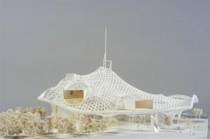 Modell des Gewinner-Entwurfs der Architekten