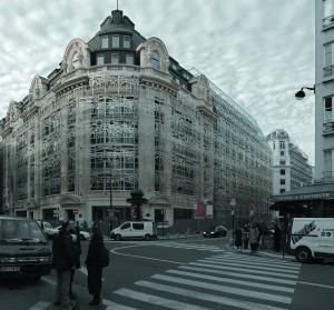 Die modernisierte Fassade des Kulturministeriums