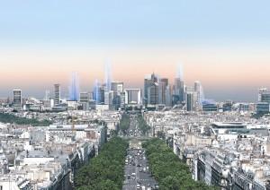 Blick von Paris nach La Défense 2020