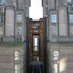 """Die postmoderne Architektur der Wohnanlage """"Espace d'Abraxas"""""""