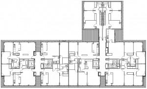 Grundriss eines Stockwerkes