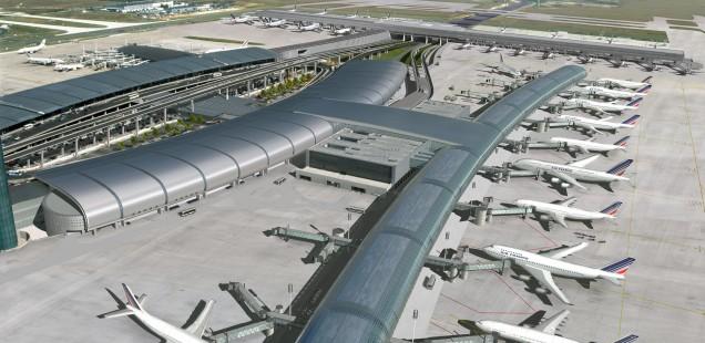 Terminal 2E des Pariser Flughafens Charles de Gaulle