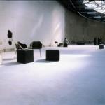 Die entkleideten Ausstellungsräume im Palais de Tokyo