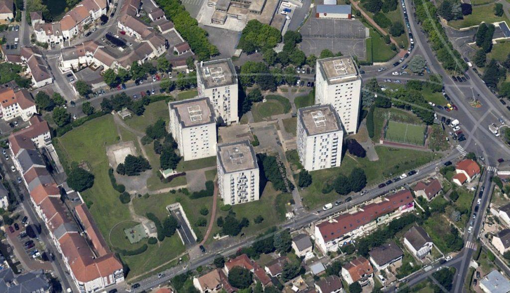 Aerial view of La Hêtraie