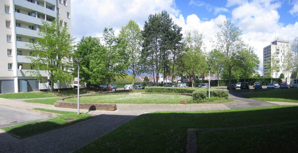 View of the existing vegetation of La Hêtraie