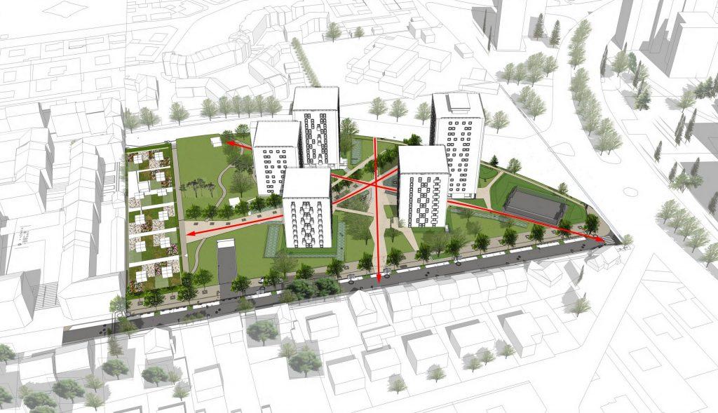 Urban design scheme of La Hêtraie