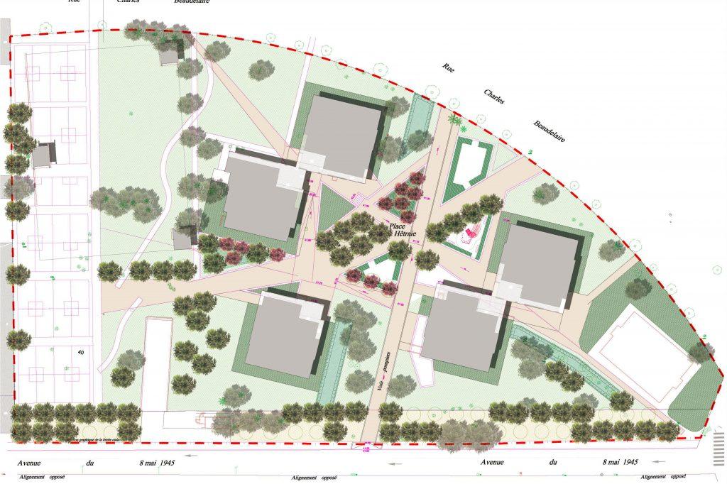 Landscape design plan of La Hêtraie